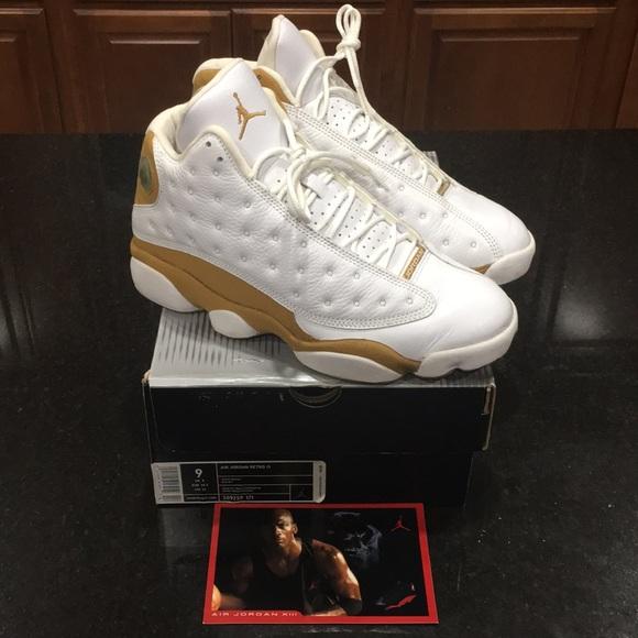 finest selection 38913 8ca09 Air Jordan Retro 13 White / Wheat Men's 9